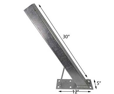 BOAT TRAILER PARTS PLACE – TAMPA FLORIDA -WINCH POST 30″ 6 HOLE BASE PO2160