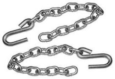 SAFETY CHAINS W/ONE HOOK