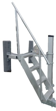 WINCH POST ALUMINUM SEAT LADDER PONTOON/CAT PO2856