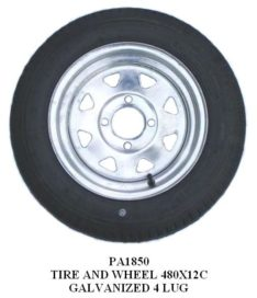 Galvanized Tire and Wheel Assemblies 12 Inches – Spoked