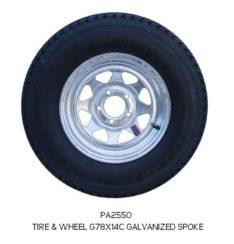GALVANIZED TIRE&Wheel ASSEMBLIES 10-13 In