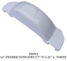 """FENDER WHITE PLASTIC 14"""" TIRE PI0512"""