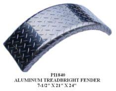 """FENDER ALUM SGL 7-1/2Wx21L 8-12""""TIRE PI1840"""