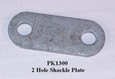 2 HOLE SHACKLE PLATE PK1300