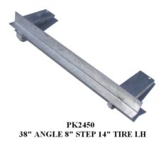 "UNDERCARRIAGE ANGLE 38"" W/8""STEP PADS PK2450 - PK2460"