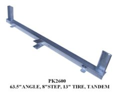 "Under Carriage ANGLE 63.5"" W/8"" STEP 13"" TIRE PK2600"