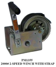 WINCH 2000LB 2-SPEED W/STRAP