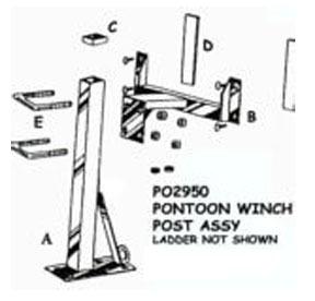 "PONTOON POST 46"" NO STEPS (POST ONLY)PO2939"
