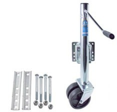 TONGUE JACK SWIVEL DUAL WHEEL 1,500LB PV0965