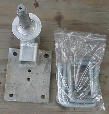 """SPARE MOUNT With 4 LUG Hub1-16"""" SPINDLE PV1916-4"""
