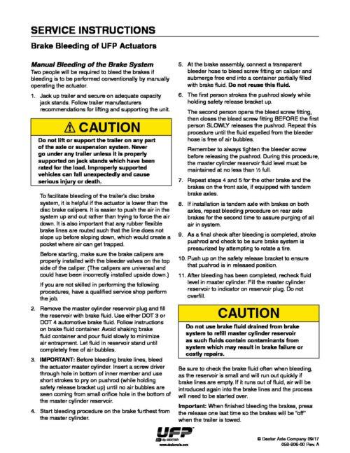 UFP DISC BRAKE ASSY 12″ 8L PAIR PG2035 3