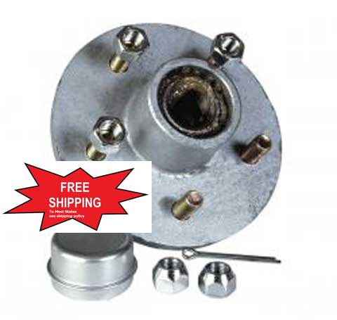 Boat Trailer Parts Place - Tampa FlorIda - 5 LUG GALVANIZED PREGREASED HUBS`