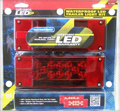 """OPTRONICS LED TRAILER LIGHT KIT FOR OVER 80"""" WIDE TRAILERS - BOAT TRAILER PARTS PLACE - TAMPA FLORIDA"""